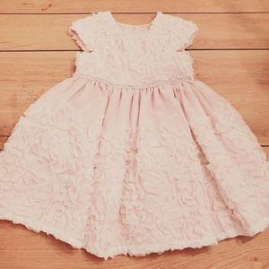 Sweet Heart Rose Pink & White Ribbon Detail Dress